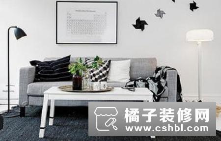 干净白色 绿色盆栽 五十度灰沙发 73平北欧风格